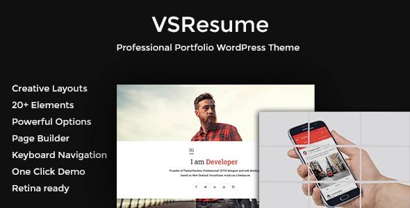 VSResume - CV / Resume WordPress Theme - Portfolio Creative