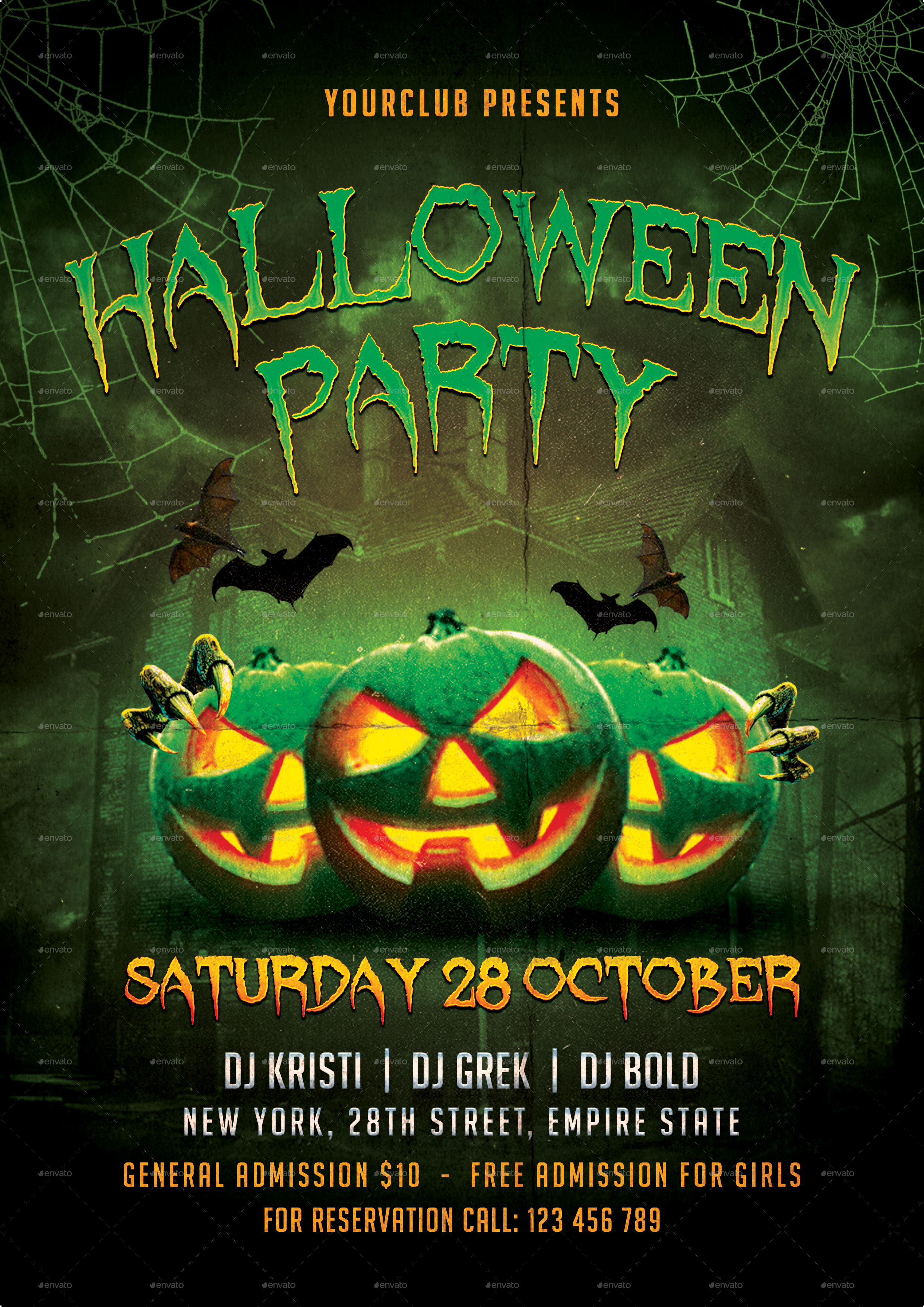 halloween party flyer by totemdesigns