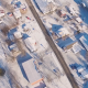 Above Small Town Covered in Snow - VideoHive Item for Sale