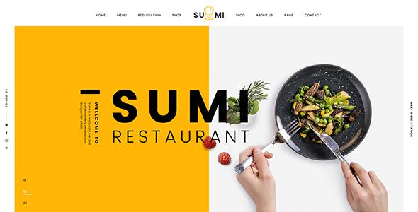 Sumi – Restaurant PSD Template
