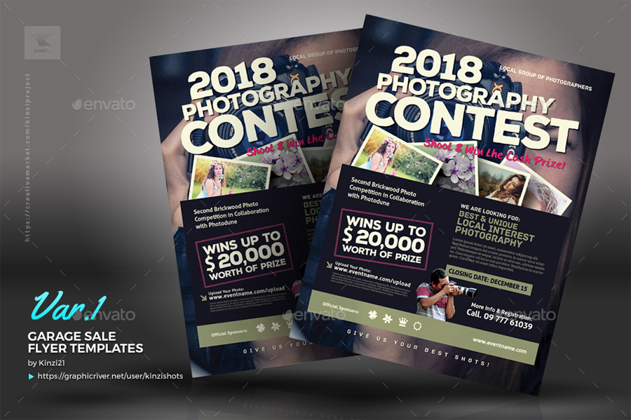 Photo Contest Flyer Templates by kinzishots – Competition Flyer Template