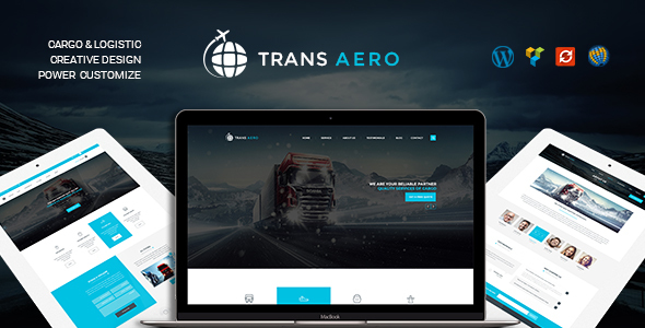 TransAero - Transport & Logistics WordPress Theme - Business Corporate
