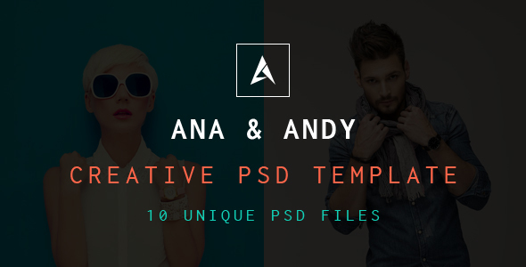 Andy & Ana Creative PSD Template - Portfolio Creative