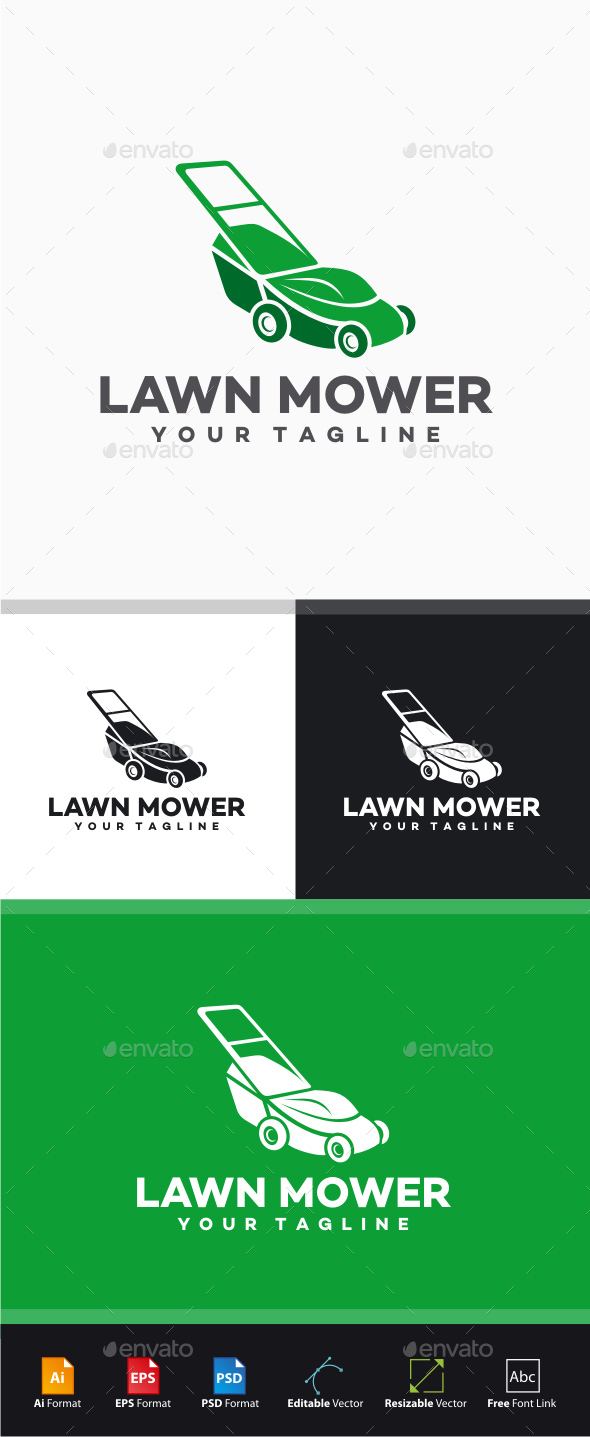 lawn mower logo. lawn mower logo - objects templates n