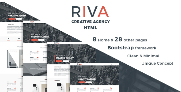 RIVA – Creative Agency and Portfolio HTML5 Template