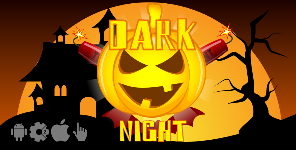Dark night - HTML5 Halloween game. Construct2 (.capx) + Cocoon ADS - CodeCanyon Item for Sale