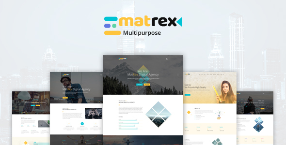 Matrex – Ultra Professional  PSD Template