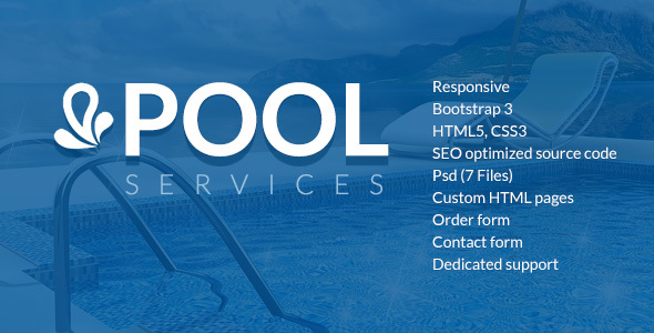 Pool Services HTML website template