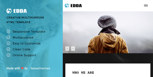 Edda – Creative Portfolio and Multipurpose HTML Template