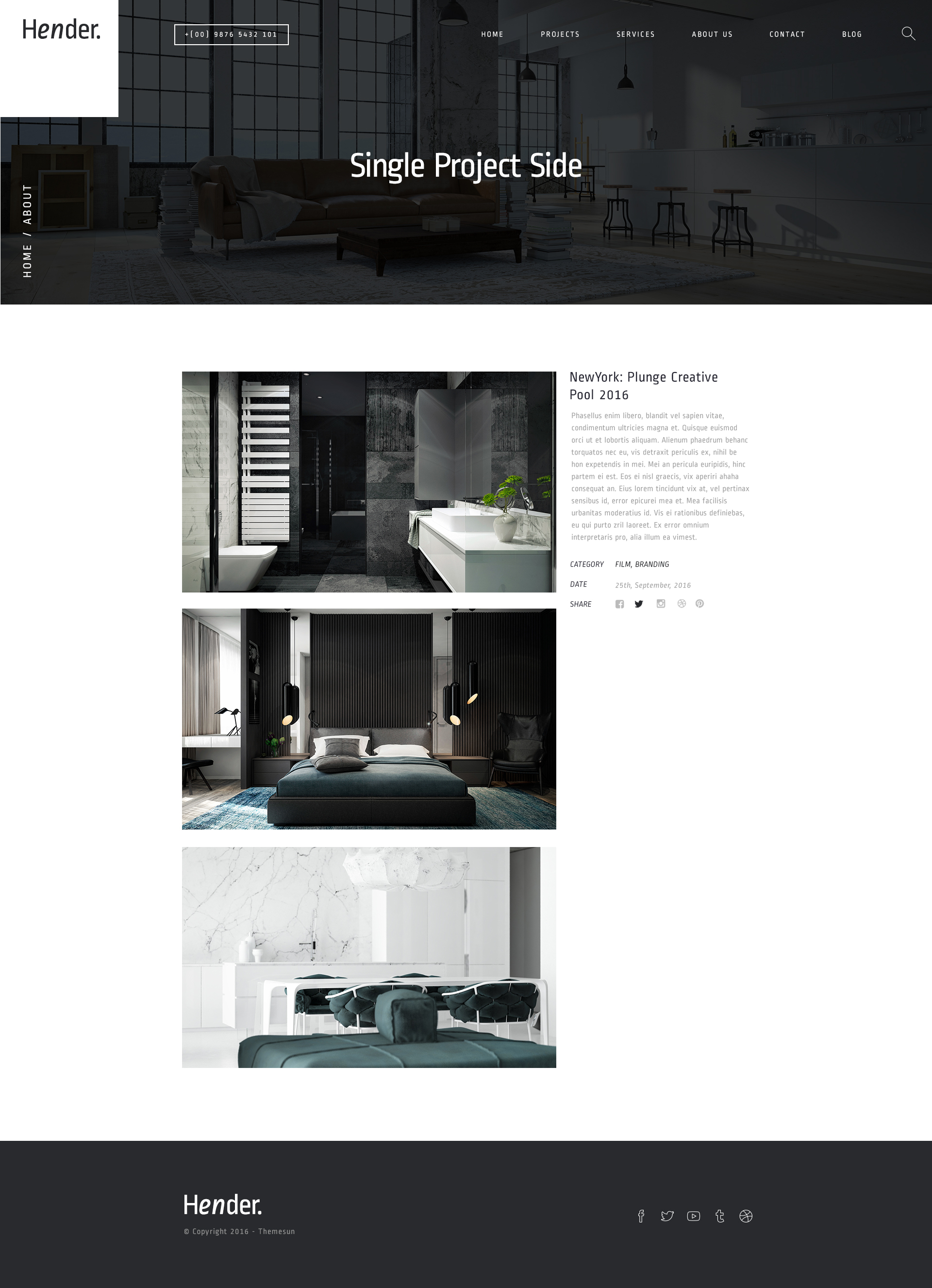 Hender architecture and interior design agency psd for Interior design agency