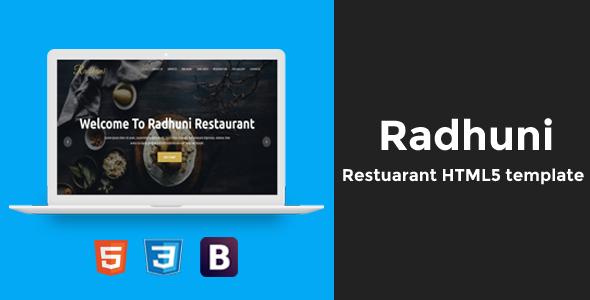 Radhuni – Restaurant HTML5 Template