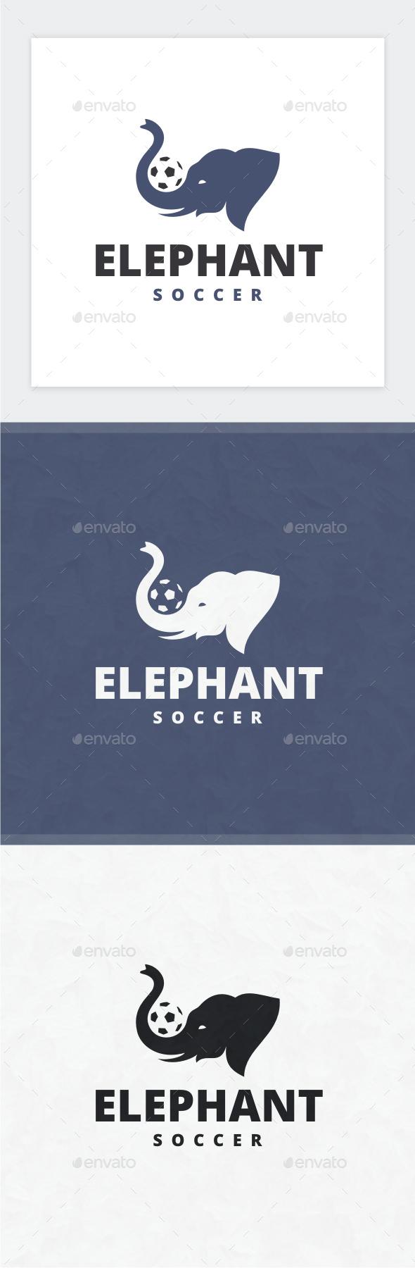 Elephant Soccer Logo - Animals Logo Templates