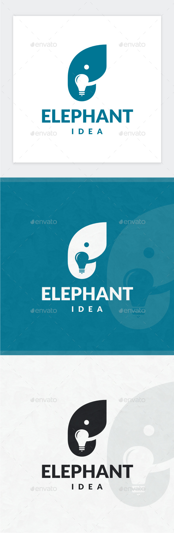 Elephant Idea Logo - Animals Logo Templates