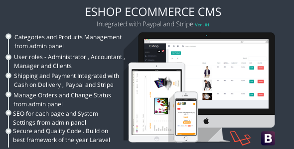 ESHOP Ecommerce CMS - CodeCanyon Item for Sale
