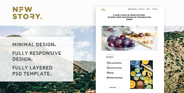 NewStory ? Creative Multipurpose Landing Page
