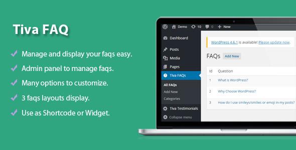 Tiva | Easy FAQs Pro Plugin For Wordpress