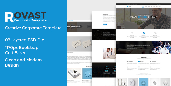 Rovast - Corporate PSD Template - Corporate PSD Templates