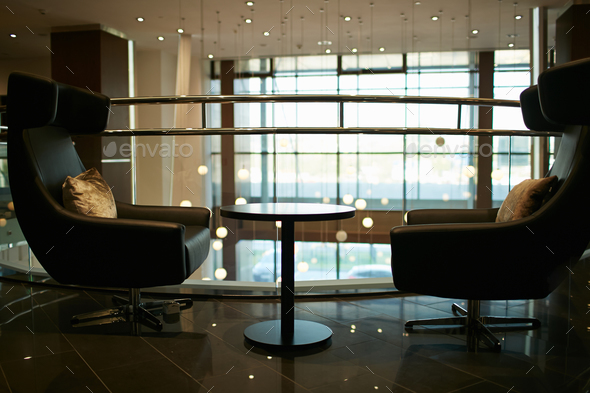 Waiting area in office building - Stock Photo - Images