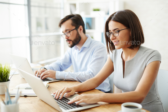 Successful office workers - Stock Photo - Images