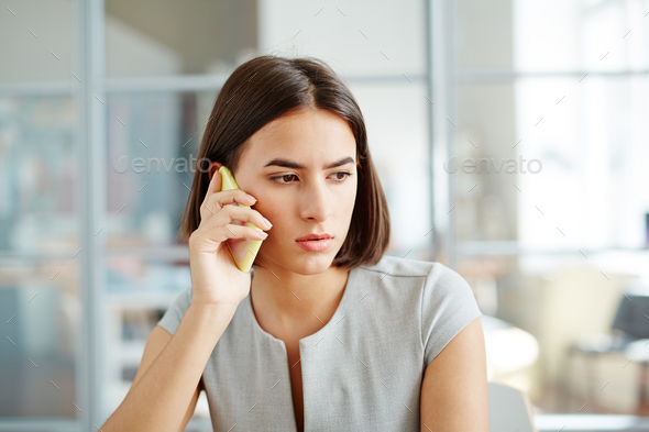 Worried businesswoman - Stock Photo - Images