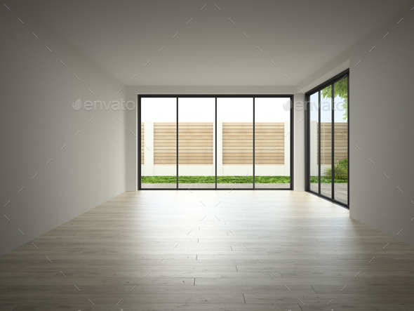 Interior Of Empty Room 3d Rendering Stock Photo By Hemul75