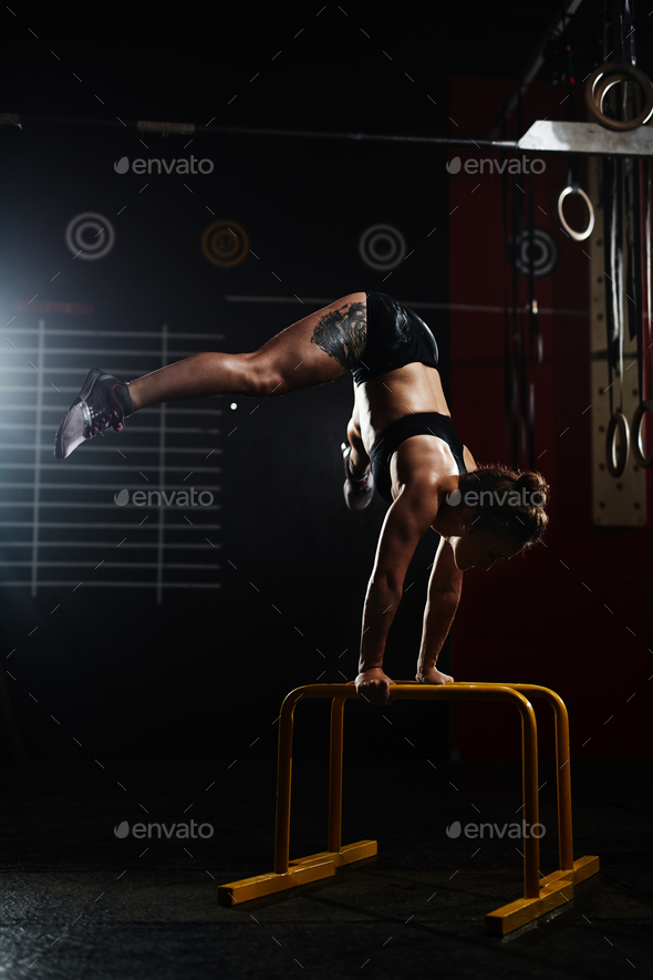 Handstand on the rails - Stock Photo - Images
