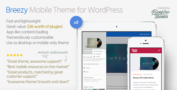 Breezy: Mobile Theme for WordPress - Mobile WordPress