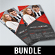 4 Corporate Business DL Flyer Bundle