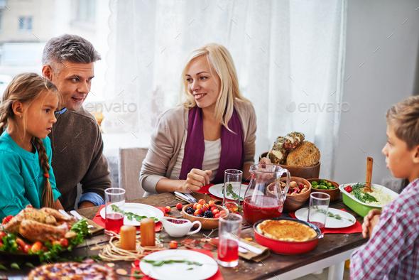 Family dinner - Stock Photo - Images