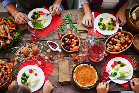 Thanksgiving feast - Stock Photo - Images