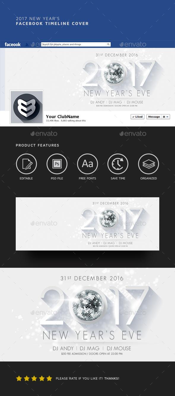 2017 New Year's Facebook Timeline - Facebook Timeline Covers Social Media