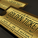 Multipurpose Golden / Silver Ticket Invitation - GraphicRiver Item for Sale
