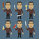 Monster Holding Baton Machetes Dynamite - GraphicRiver Item for Sale
