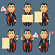 Vampire Holding Ax Megaphone Paper - GraphicRiver Item for Sale