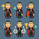 Vampire Holding Gun Money Cup - GraphicRiver Item for Sale