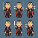Vampire Holds Machete Sword Wine - GraphicRiver Item for Sale