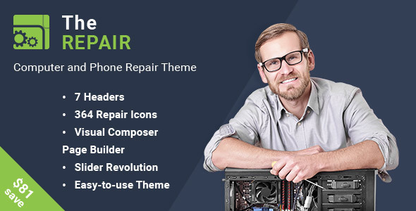 The Repair - Computer and Electronics Repair WordPress Theme - Technology WordPress
