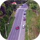 Fly Over a City Road - VideoHive Item for Sale