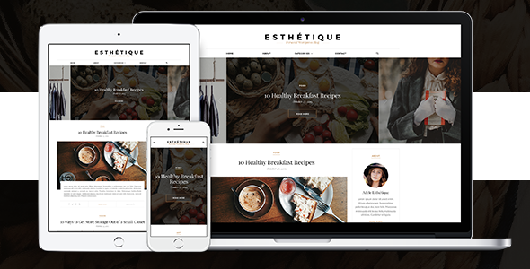 Esthetique - personal WordPress Blog Theme