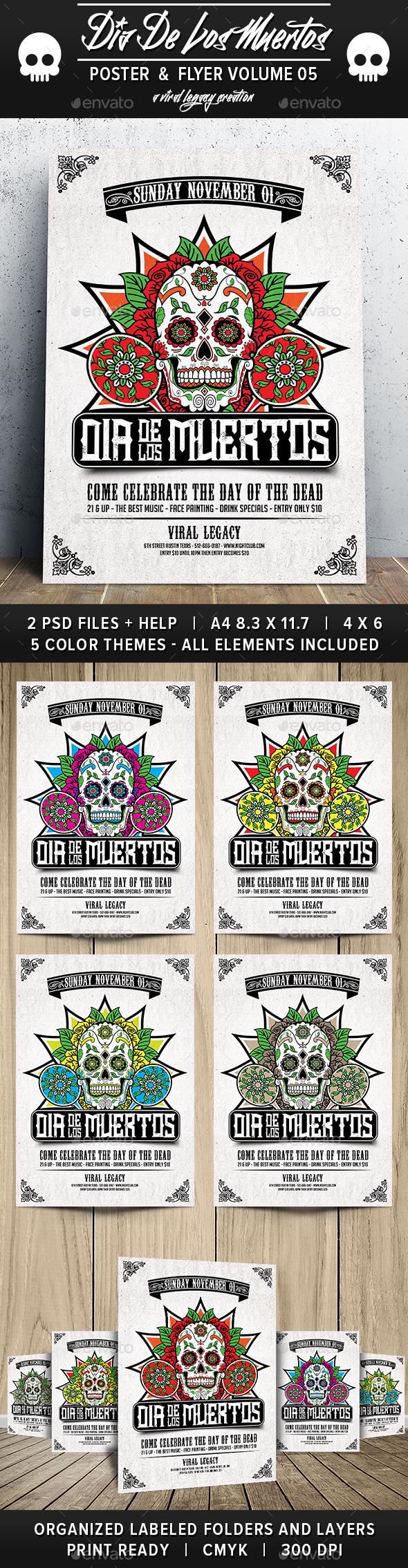 Dia De Los Muertos Volume 5 - Events Flyers