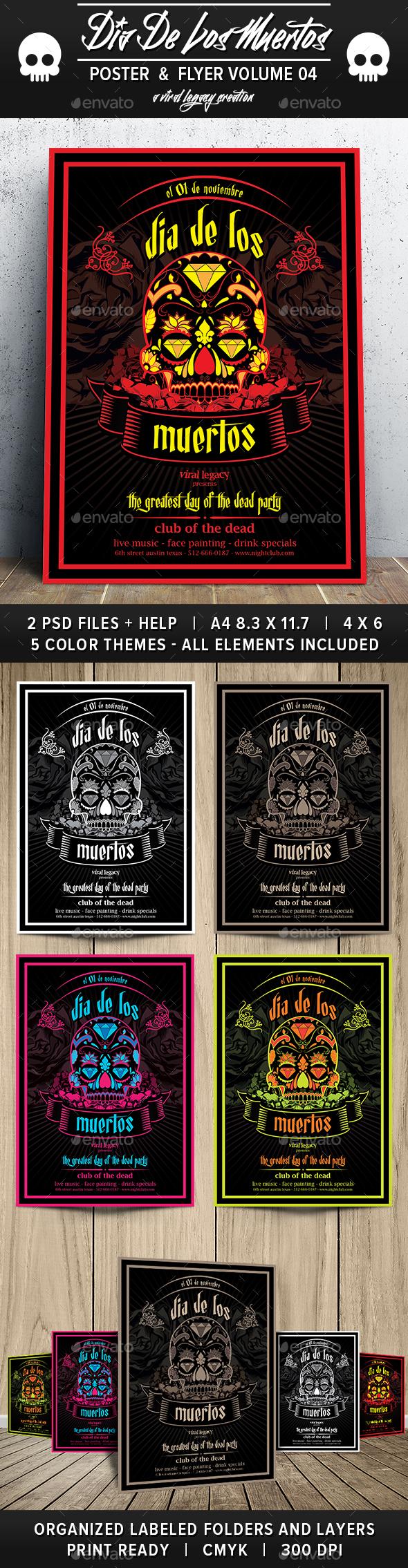 Dia De Los Muertos Volume 4 - Flyers Print Templates