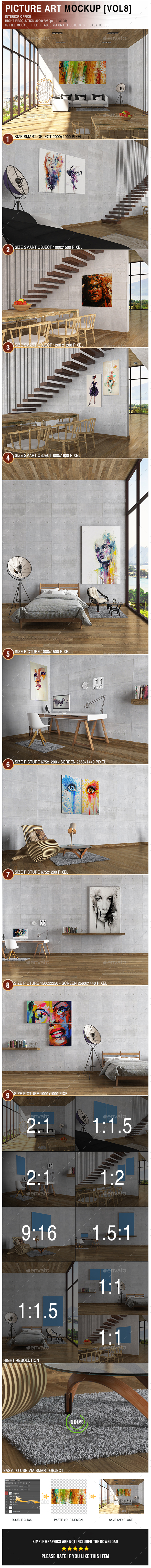 Picture Art Mockup [Vol 8] - Posters Print