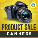 HTML5 E-Commerce Banners - GWD - 7 Sizes(NF-CC-147)