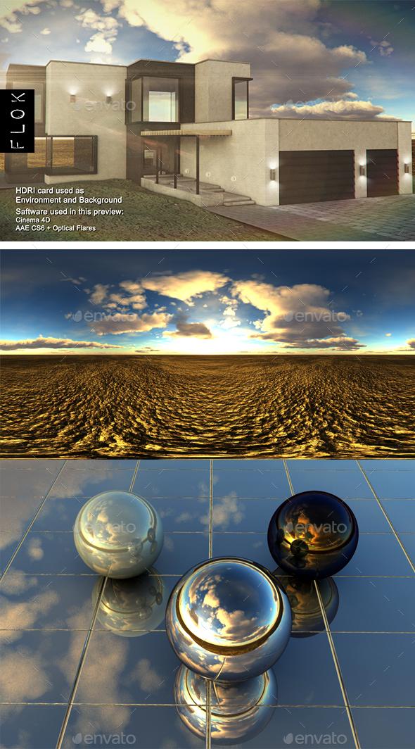Sunset Desert 77 - 3DOcean Item for Sale