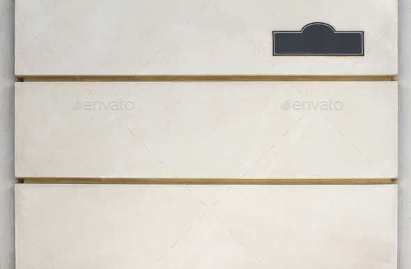 Blank house street number on white wall - Stock Photo - Images
