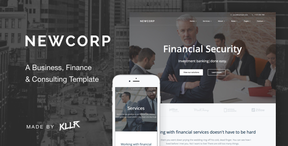 Newcorp - A Business, Finance & Consulting Template - Business Corporate
