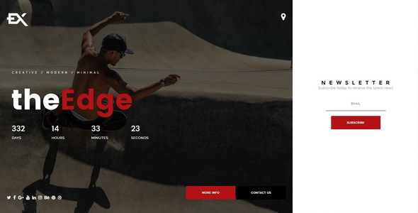 The Edge || Premium Under Construction Template - Under Construction Specialty Pages