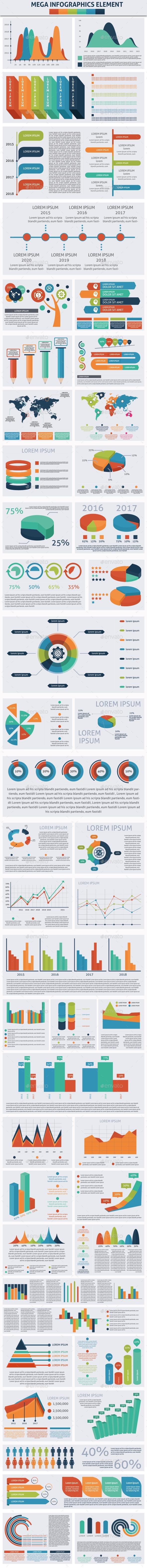 Mega Infographics Element - Infographics