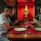 Young People Chooses Meal In The Indian Restaurant - VideoHive Item for Sale
