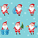 Set of Christmas Santa Claus - GraphicRiver Item for Sale